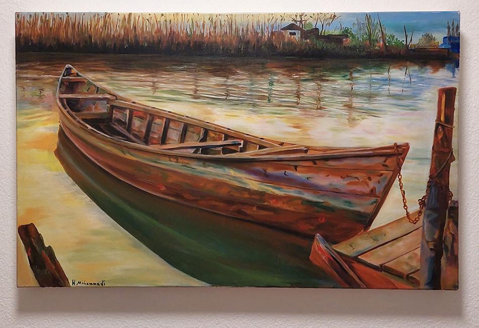 Bild mit Boot am Steg © Hussein Mohammadi - Weiter Schreiben Schweiz